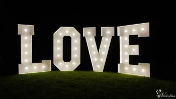 3dlove Wynajem podświetlanych liter LOVE 3d 120 cm, Napis Love Korfantów