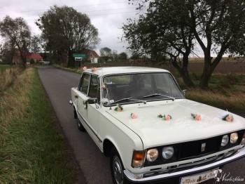 Fiat 125p legenda do ślubu, Samochód, auto do ślubu, limuzyna Głogówek