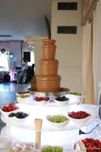 Fontanny czekoladowe, pokazy baniek mydlanych, fontanna alko., Czekoladowa fontanna Czarne