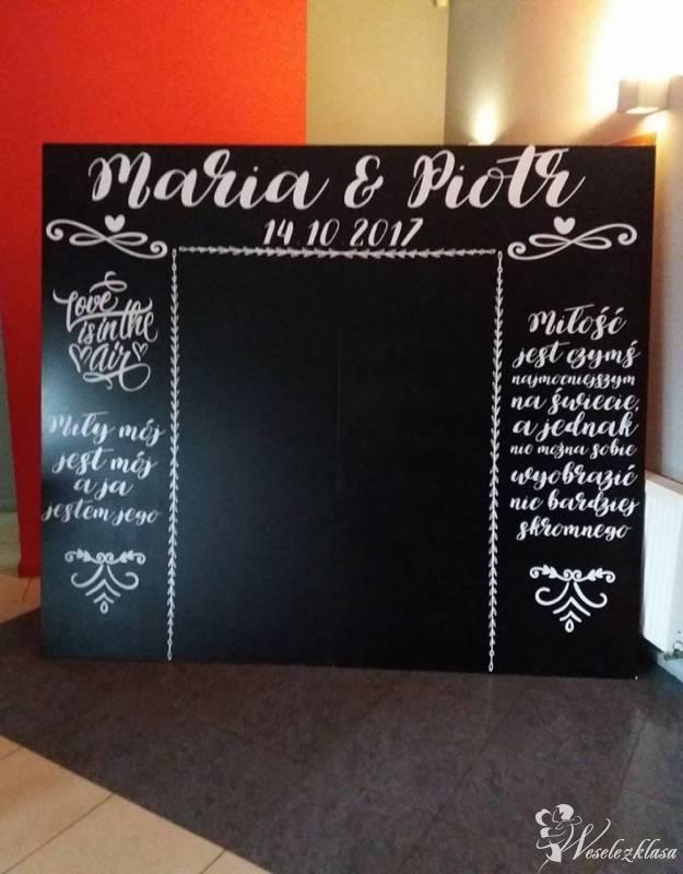 Ścianka czarna fotograficzna PERSONALIZACJA tło PROJECT WEDDING, Łodź - zdjęcie 1