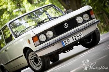 FIAT 125p DO ŚLUBU, NA WESELE, RANDKĘ, STUDNIÓW, Samochód, auto do ślubu, limuzyna Dobczyce