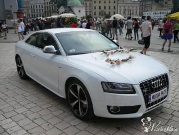 Piękne białe Audi A5 , Samochód, auto do ślubu, limuzyna Kraków