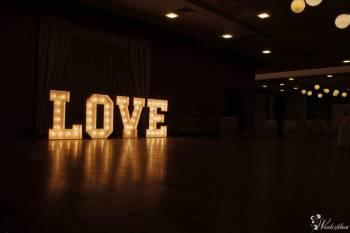 Podświetlany napis LOVE, litery 3D - wynajem, Napis Love Złotoryja