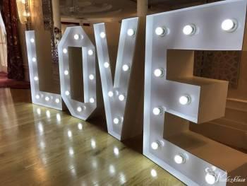 Napis LOVE 3D Led Wesele/Sesja, Dekoracje światłem Mikołów