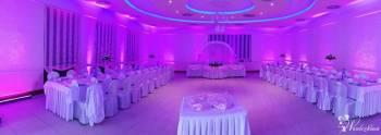 Dekoracja sali światłem LED.  ! Ciężki dym, *Hel*, Fotobudka Love MR M, Dekoracje ślubne Głogów