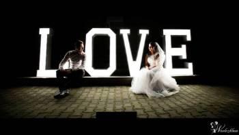 """PODŚWIETLANY NAPIS """" LOVE"""" - WYNAJEM WESELE!, Napis Love Łochów"""