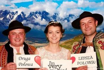 WESELE GÓRALSKIE - FOTOBUDKA PODHALE - 2h zabawy 599, Fotobudka, videobudka na wesele Jordanów
