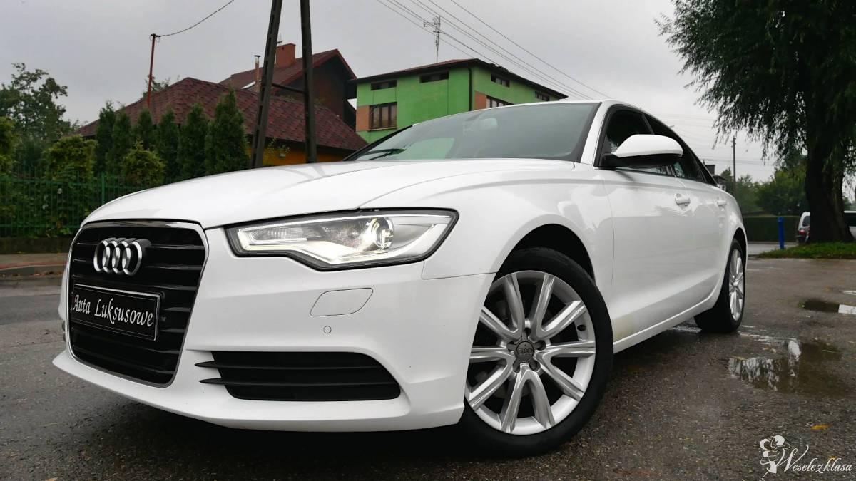 Białe Audi A6 Auto do Ślubu Limuzyna Wesele Wynajem, Zawiercie - zdjęcie 1