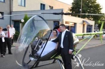 Helikopter na weselu. Pilot wręcza prezent., Unikatowe atrakcje Mysłowice