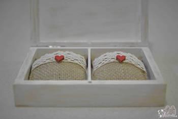 Pudełka na Ślub/Wesele obrączki, koperty, winietki, pokrowce, Artykuły ślubne Puszczykowo
