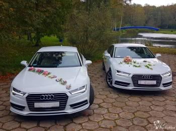 Dwa Perłowe Audi A7 z kremową skórą, Udane wesela, Samochód, auto do ślubu, limuzyna Ustroń