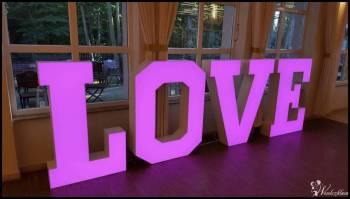 napis LOVE podświetlany WIELOKOLOROWY, aż 1,30m wys. 3D, Napis Love Pilica