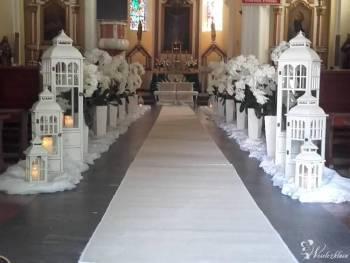 NIEPOWTARZALNE DEKORACJE SAL KOŚCIOŁÓW BUKIETY ŚLUBNE BOXY KWIATOWE, Dekoracje ślubne Błaszki