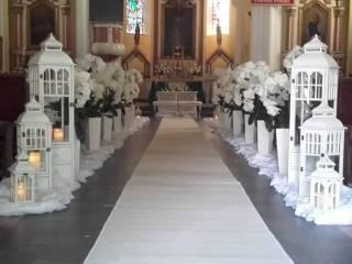 NIEPOWTARZALNE DEKORACJE SAL KOŚCIOŁÓW BUKIETY ŚLUBNE BOXY KWIATOWE, Dekoracje ślubne Krosniewice