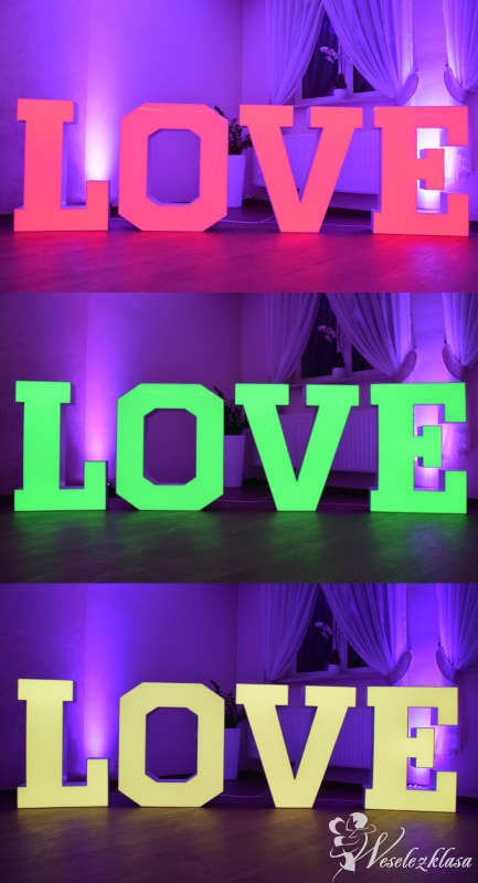 Napis LOVE - Ciężki dym - Dekoracja światłem, Nowy Sącz - zdjęcie 1