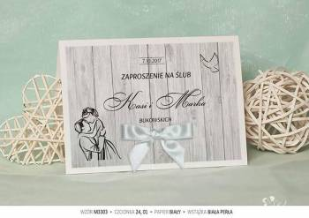 Kartki na ślub, zaproszenia ślubne weselne na wesele SZYBKO, Zaproszenia ślubne Raszków