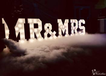 Dekoracyjny napis Mr&Mrs; - LOVE - ciężki dym - fotobudka - Eventovnia, Napis Love Olszyna