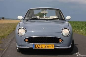 Limitowany Nissan Figaro do ślubu... niepowtarzalny cabrio, Samochód, auto do ślubu, limuzyna Wołów