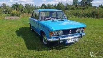 Fiat 125p, Samochód, auto do ślubu, limuzyna Żnin