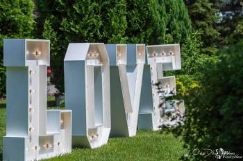 Napis Love Podświetlany Retro, Napis Love Biała