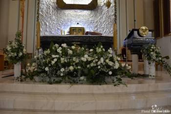 Profesjonalne dekoracje śłubne, sale, kościoły, bukiety, biały dywan, Kwiaciarnia, bukiety ślubne Skawina