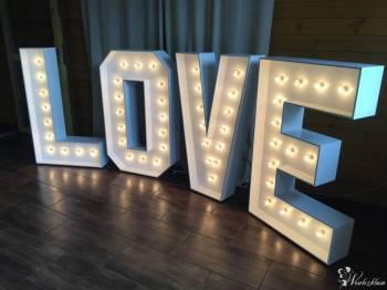 Napis Love/ Świecące Love/ LiterOVE / Drewniany napis Love, Napis Love Pruszcz Gdański