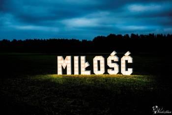 napis Miłoś napis Love poświetlany kolorowy, drewnia   Kraina fantazji, Napis Love Białystok