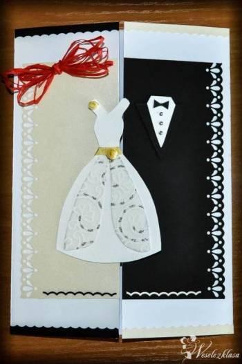 Ręcznie wykonane oryginalne zaproszenia ślubne, dodatki, Zaproszenia ślubne Ząbkowice Śląskie