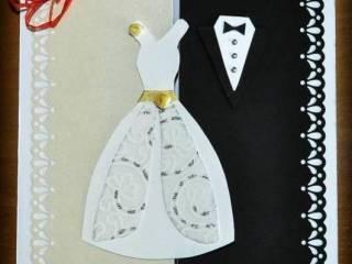 Ręcznie wykonane oryginalne zaproszenia ślubne, dodatki,  Lubin