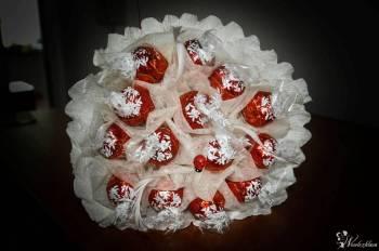 Słodkie bukiety, exploding box, wachlarze, podziękowania, Prezenty ślubne Dzierżoniów