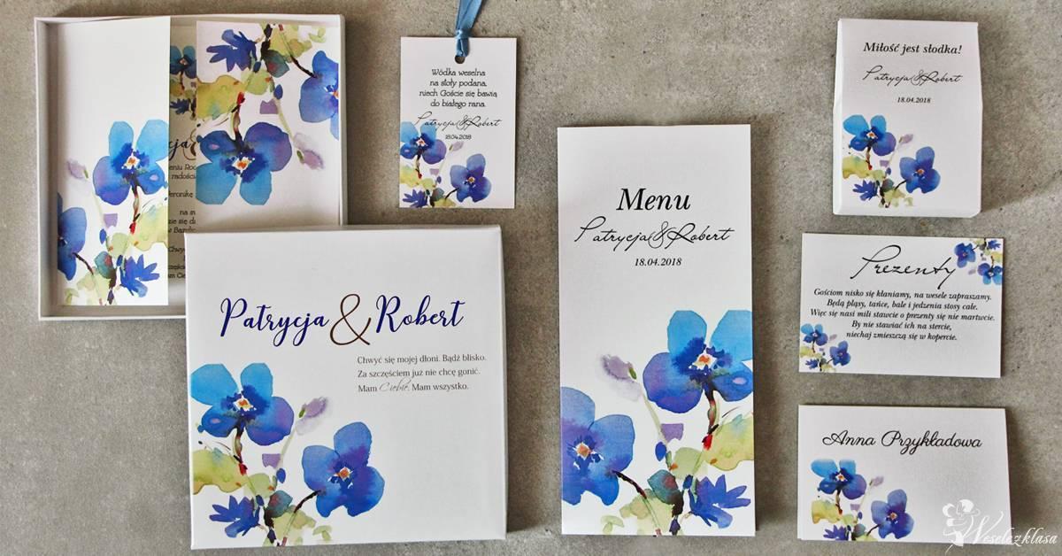 Zaproszenia na ślub, ślubne - kwiatowe, w etui, w pudełkach, Szczecin - zdjęcie 1