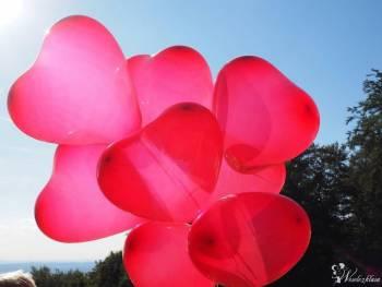 Pudło-Prezent z Balonami z helem. Dekoracje., Balony, bańki mydlane Sulmierzyce