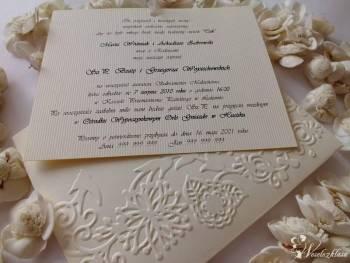 Piękne, ręcznie robione zaproszenia - zobacz!, Zaproszenia ślubne Wilamowice