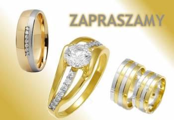 AGAT Jubiler Złote Ślubne Obrączki, Obrączki ślubne, biżuteria Łabiszyn