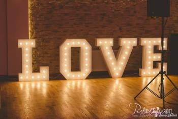 Podświetlany napis LOVE na Twoje wesele 1,1m - Wynajem - od 249zł!, Napis Love Radłów