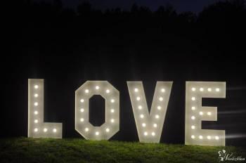 """Napis """" LOVE"""" / Balony Led/ Dekoracja, Dekoracje ślubne Wysoka"""
