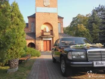 Mercedes w123, Samochód, auto do ślubu, limuzyna Ślesin