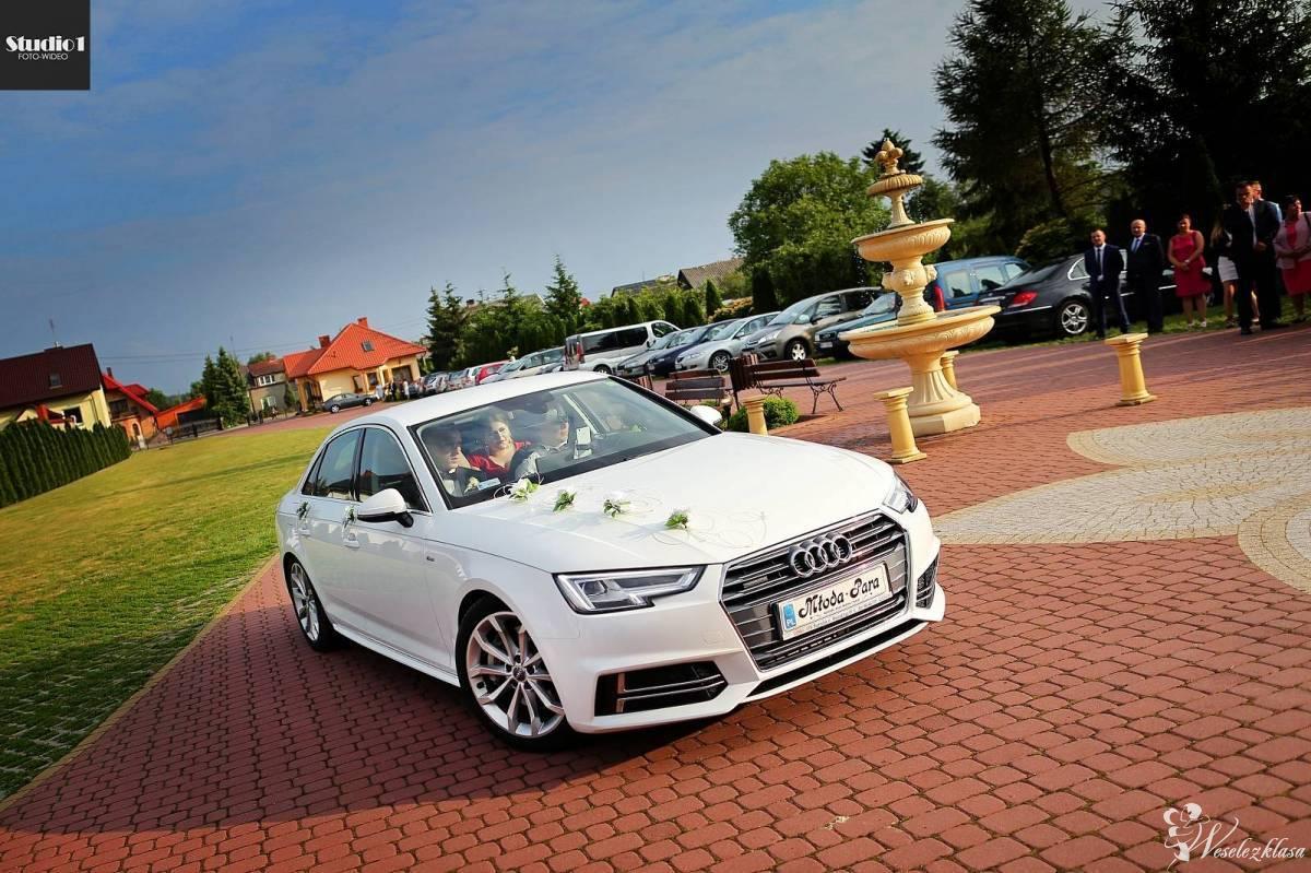białe AUDI limuzyna SPORT nowoczesne, PIĘKNE najnowszy model!, Siedlce - zdjęcie 1