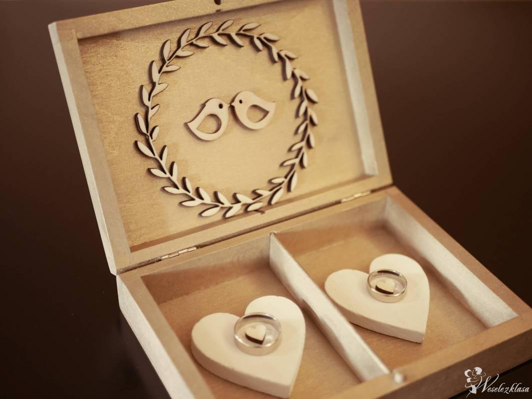 Rustykalne dekoracje / Drewniany napis LOVE / Pudełka na obrączki, Muszyna - zdjęcie 1