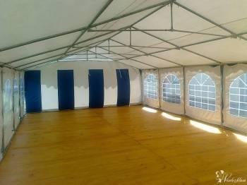 Namioty Weselne 6x12, podłoga taneczna 72 m2, ławki stoły, Wypożyczalnia namiotów Radymno