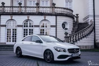 Biały Mercedes-Benz CLA pakiet AMG, Samochód, auto do ślubu, limuzyna Kraków