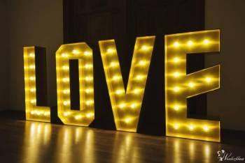 HIT Stojący ZŁOTY napis LOVE 120cm wynajem!, Napis Love Czeladź