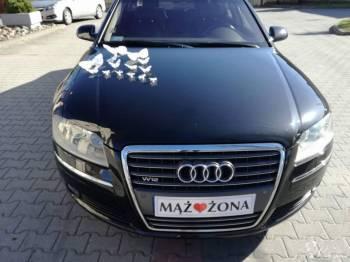 Audi A8 W12 Limuzyna Auto do Slubu/Wesela Wynajem Auta Auto na Slub, Samochód, auto do ślubu, limuzyna Zielona Góra