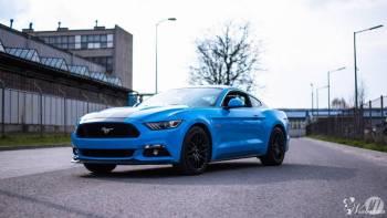 Ford Mustang GT 5.0 V8 Grabber Blue, Samochód, auto do ślubu, limuzyna Krasnobród