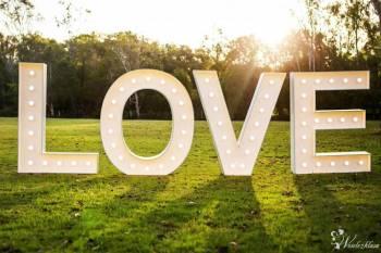 Napis LOVE litery led, wesele, dekoracja gigant, Dekoracje ślubne Miłakowo
