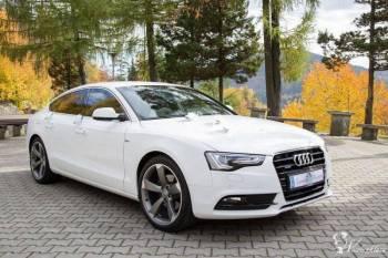 Białe Audi A5 S-line , Samochód, auto do ślubu, limuzyna Gniewkowo
