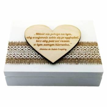 Skrzynka Pomysłów drewniane dodatki ślubne z personalizacją, Artykuły ślubne Suwałki