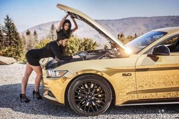 Złoty Mustang,Corvetta,Maserati,Camaro,Audi ! OBSŁUGUJEMY CAŁĄ POLSKĘ, Samochód, auto do ślubu, limuzyna Wołomin