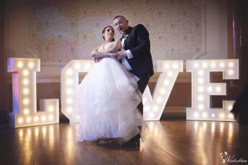 Duże litery LOVE 120cm podświetlane led, Napis Love Warta