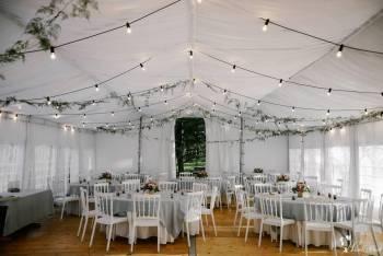Girlanda świetlna wynajem na wesele, mnóstwo ciepłego światła i klimat, Dekoracje światłem Częstochowa